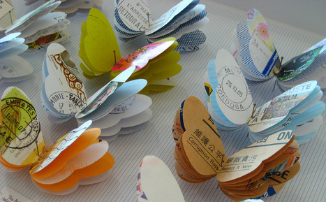 Bookmarking Book Art - Louisa Boyd | Books On Books | Scoop.it