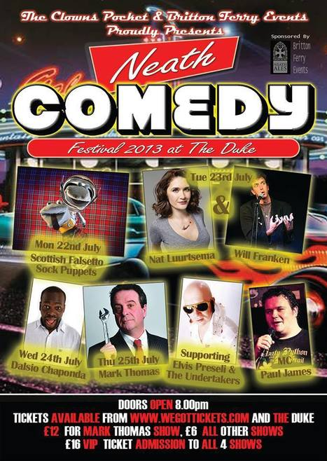 Neath Comedy Festival 2013 | ComedyEvents | Scoop.it