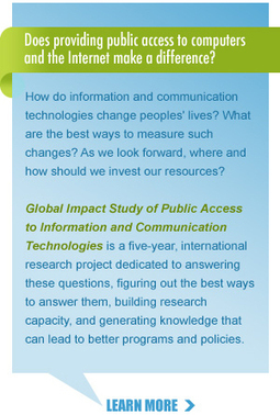 The Global Impact Study|Does public access to information and communication technologies matter? | TIC en ONGAWA | Scoop.it