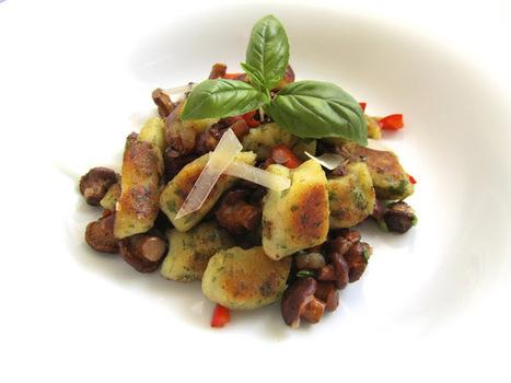 Küchentanz: Petersiliengnocchi mit Eierschwammerl und Speck - die schon! | Kochen, Essen, Rezepte.... | Scoop.it
