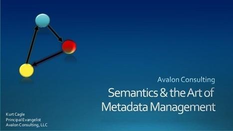 Metadata Management – Semantics for Big Data? | Big data+metadata | Scoop.it