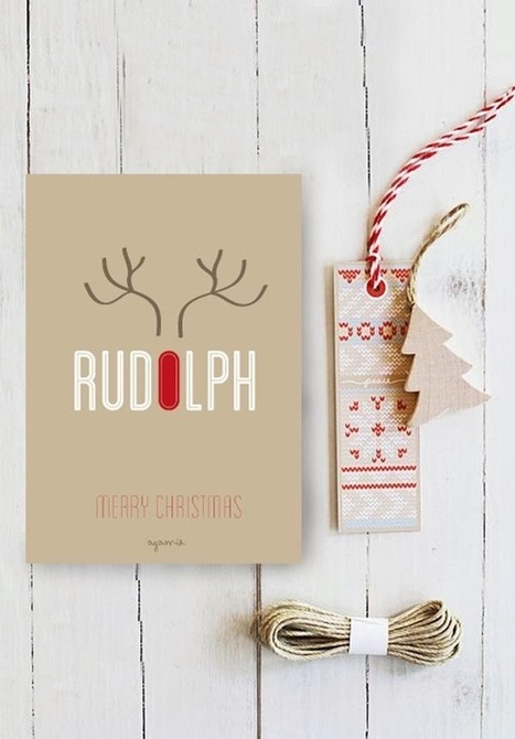 50 Examples of Attractive Christmas Card Designs of 2013 | Communication design | Scoop.it