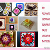 """Flower granny square Free crochet patterns"""