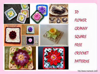 "Flower granny square Free crochet patterns | ""Flower granny square Free crochet patterns"" 