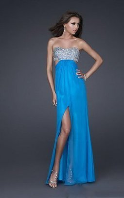 Royal Blue Beaded Top Strapless Long Prom Dress 2013 [royal blue sparkle top prom dress] - $176.90 : lafemme2013outlet.com | long prom dresses | Scoop.it