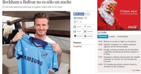 Presidente de time boliviano ainda quer Beckham: 'faremos o possível' | Mesa do Futepoca | Scoop.it