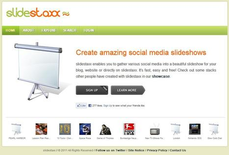 slidestaxx - create amazing social media slideshows | Educación & Social Media | Scoop.it