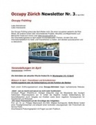 Occupy Newsletter Nr.3 | Occupy Zürich | Scoop.it