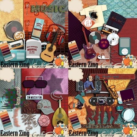 Eastern Zing Bundle - $9.59 : Caroline B., My Magic World of Digital Design | SCRAPBOOKING | Scoop.it