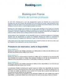 Découvrez l'opération de séduction de Booking avec sa charte des bonnes pratiques - Artiref | Web marketing hotelier | Scoop.it