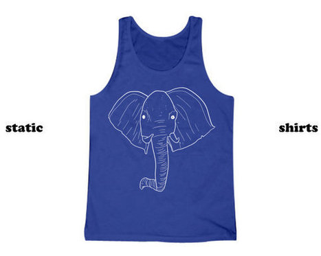 Elephant Tank Top | Elephant Tanktop | Animal Clothing | Fashion Shirt | Scoop.it