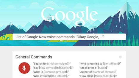 Learn Over 60 Google Now Commands with This Infographic | Googly | Scoop.it