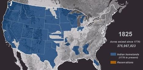 Map: Time-lapse of American seizure of indigenous land, 1776-1887   Community Village World History   Scoop.it