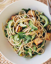 Whole-Wheat Pasta with Tofu and Cucumber Recipe - Quick From Scratch One-Dish Meals | Food & Wine | À Catanada na Cozinha Magazine | Scoop.it