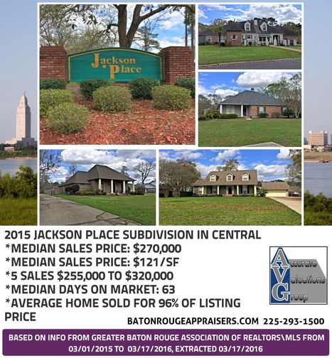 Jackson Place Subdivision Central Baton Rouge Home Sales Trends 2015-2016Jackson Place Subdivision Central Baton Rouge Home Sales Trends 2015-2016Jackson Place Subdivision Central Baton Rouge Home... | City Of Central Louisiana Real Estate News | Scoop.it