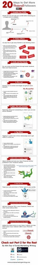 20 Ways To Get More Pinterest Followers Part 1 – Infographic | Social and digital network | Scoop.it