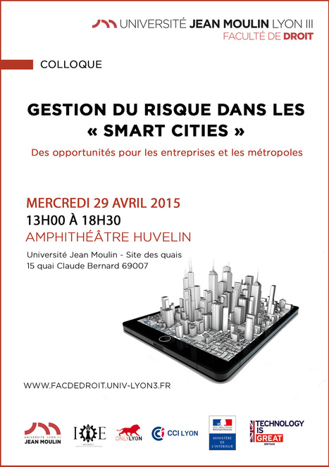 "29.04.15 | Colloque : ""Gestion du risque dans les Smart Cities"" 