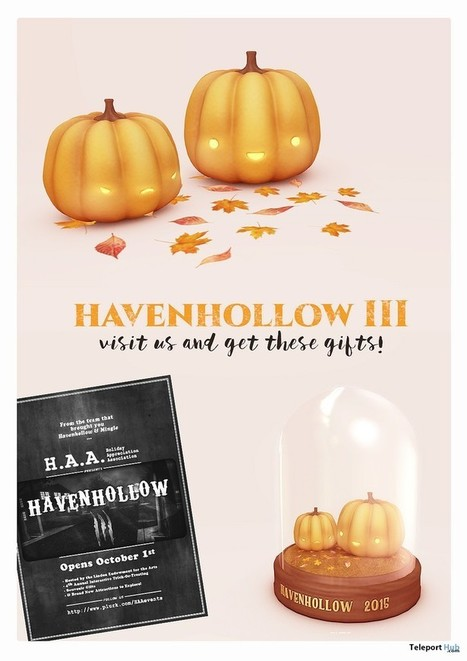 Pumpkin Deco, Autumn Leaves, and Havenhollow III Keepsake Gift by MishMish | Teleport Hub - Second Life Freebies | Second Life Freebies | Scoop.it