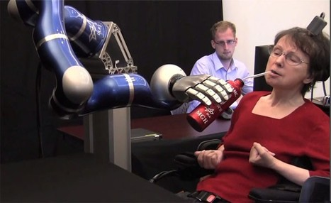 Mind-operated robot arm helps paralyzed woman have her cup o' joe (video) | Tracking the Future | Scoop.it