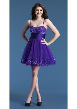 A Line Spaghetti Strap Mini Purple Organza Homecoming Dress Adodj0009 - Homecoming Dresses - Special Occasion Dresses | mode | Scoop.it