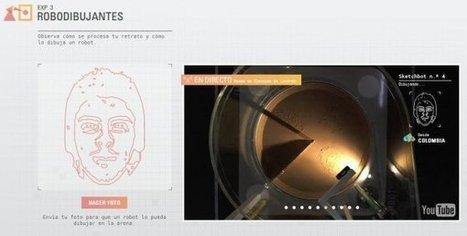 Mira como un robot dibuja tu rostro en vivo   redes sociales escribana   Scoop.it
