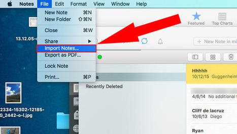 Prochainement, l'application Notes sur Mac pourra importer les entrées d'Evernote (il faudra tester) | Evernote, gestion de l'information numérique | Scoop.it
