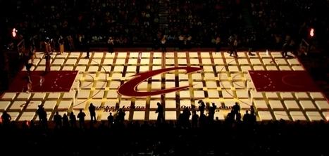 Un mapping 3D impressionnant projeté avant un match sur le terrain des Cleveland Cavaliers | Cabinet de curiosités numériques | Scoop.it