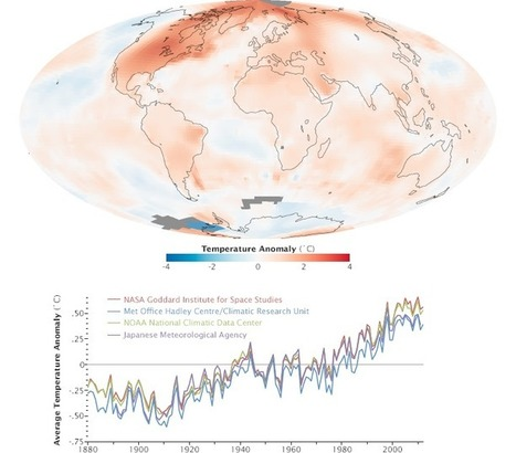 Temperaturas entre 1880-2012 | geografia online | clip | Scoop.it