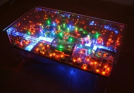 Electri-City Tables Built With Old Computer Hardware   Big and Open Data, FabLab, Internet of things   Scoop.it