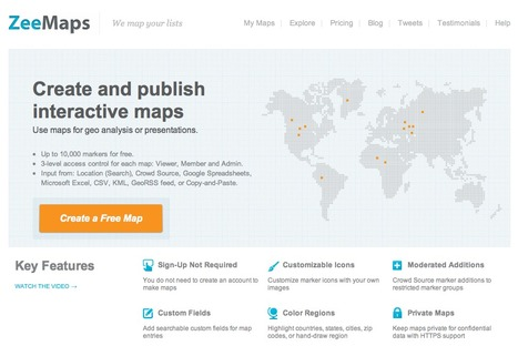 Create your own map, build interactive maps, place photos, videos on a map | all things teacher librarian | Scoop.it