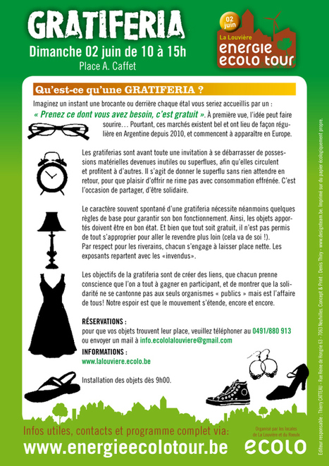 Dimanche 2 juin 2013 : GRATIFERIA à Haine-Saint-Paul avec les Incroyables Comestibles La Louvière | Côté Jardin | Scoop.it