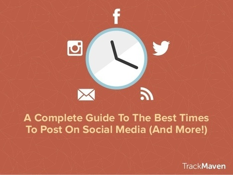 Complete Guide to Best Times to Post On Social Media | TrackMaven | Social Media Branding | Scoop.it