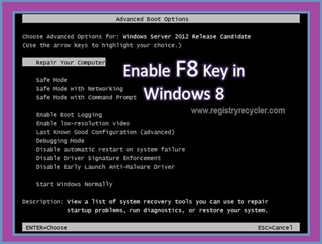 Activate F8 Key for Advanced Startup Options | Windows, Software and PC Performance | Scoop.it