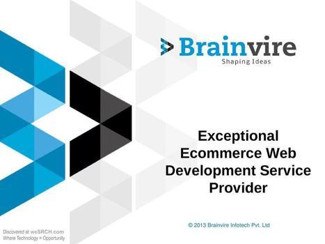 Exceptional Ecommerce Web Development Service Provider ...   web design and development services   Scoop.it