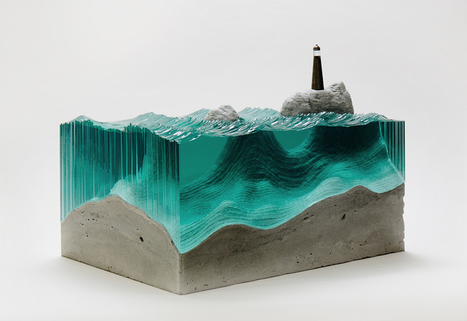 Sheets of Glass Cut into Layered Ocean Waves |Ben Young | Architecture, Design, Art, Technology | Scoop.it