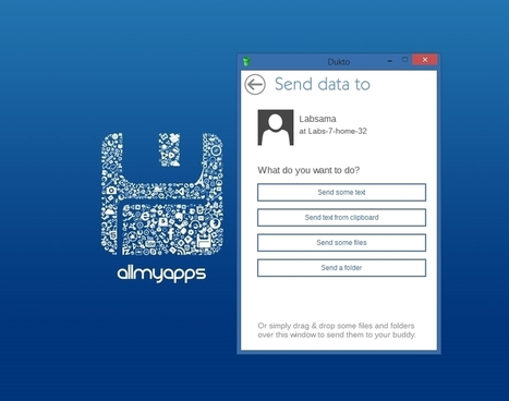 Transfer your files in the blink of an eye with Dukto   Allmyapps Magazine   Scoop.it