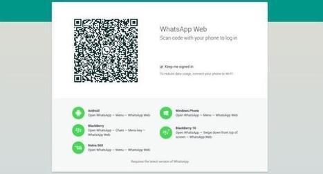 WhatsApp Web: qué es, cómo funciona y todo lo que tienes que saber | Tic, Tac... y un poquito más | Scoop.it