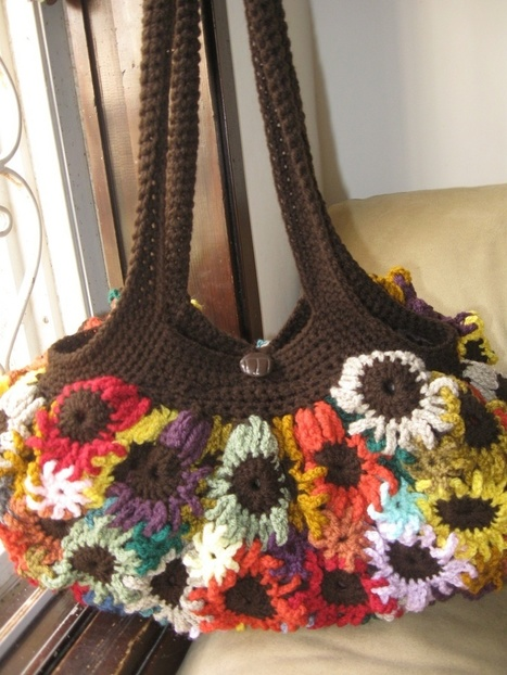 Crocheted Flower Purse | All about hand making | Scoop.it