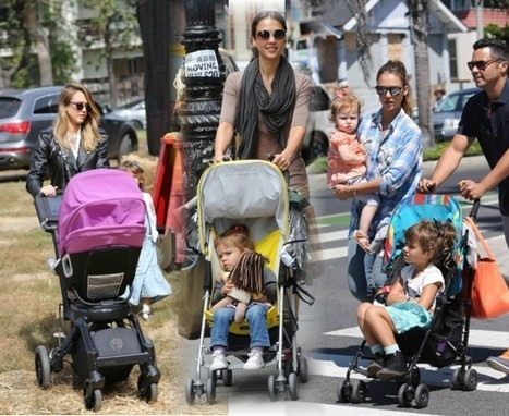 Jessica Alba fashionista jusque dans le... - People Looks | Pousette Bébé | Scoop.it