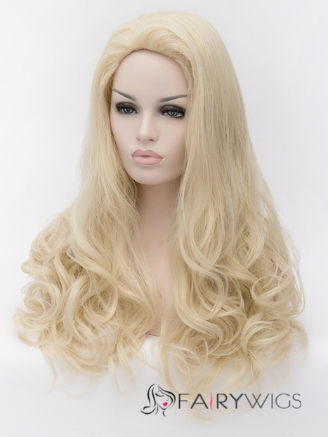 Hot 24 Inch Capless Wavy Flaxen Synthetic Hair Wigs : fairywigs.com | Synthetic Hair Wigs | Scoop.it