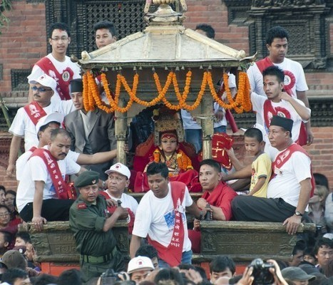 Nepal's Worshiped Child Goddesses Whose Feet Cannot Touch the Ground until Puberty | Strange days indeed... | Scoop.it