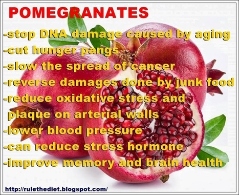 POMEGRANATES: THE WONDER DRUG | healthy diet for a healthy lifestyle | Scoop.it