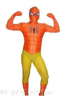 Orange and Yellow Spiderman Lycra Spandex Super Hero free shipping - wholesale Lycra Spandex Zentai Suits - wholesale Catsuits & Zentai - CosplayGate.Com | spiderman suit,spiderman costumes wholesale | Scoop.it