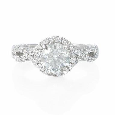 Diamond Platinum Antique Style Engagement Ring Setting | Diamond Engagement Rings | Scoop.it