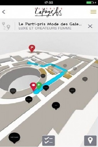 Les Galeries Lafayette lancent leur appli de géolocalisation instore | Customer Marketing in Retail | Scoop.it