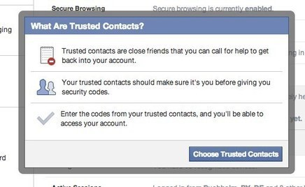 "Neues Feature: Facebook-Konto schützen mit ""Trusted Contacts"" 