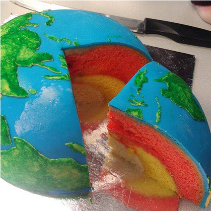 Earth Structural Layer Cake | China Teachers | Scoop.it