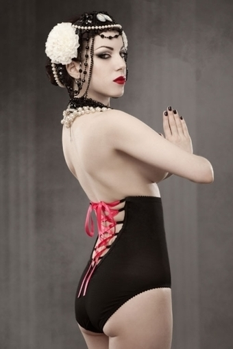 Vargas Lace-up Panty Girdle by Kiss Me Deadly in Girdles and Shapewear | VIM | Scoop.it