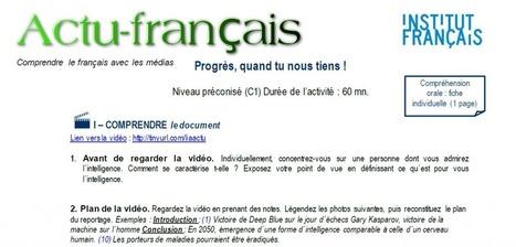 Actu français : Progrès, quand tu nous tiens ! | Le blog des profs de l'Institut Français à Madrid | En français, au jour le jour | Scoop.it