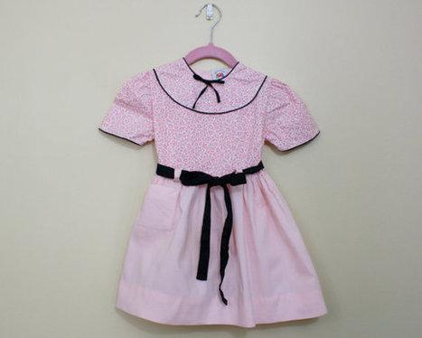 1950s toddler dress / 50s girls dress / pink by VintConditionStyle | Wilson Jeriff Scoop | Scoop.it